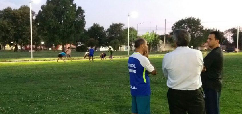 Mauricio Ponce y la nueva iluminación en el ovalo del Playón Deportivo