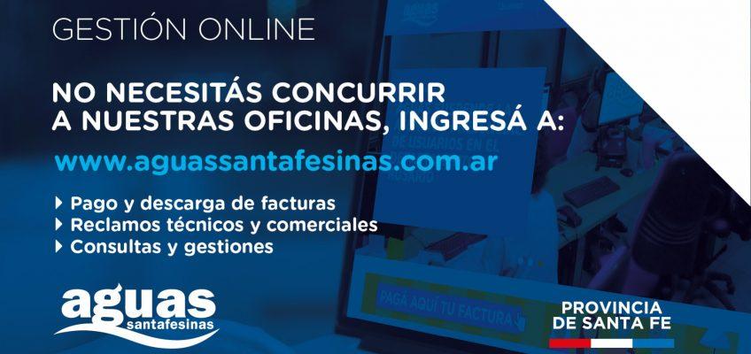 Aguas Santafesinas suspendió la atención presencial de usuarios en Casilda y Rufino