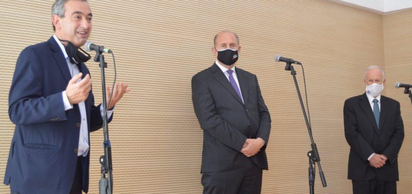 Lamberto, Perotti y Javkin inauguraron un nuevo edificio de la Defensoría del Pueblo en Rosario