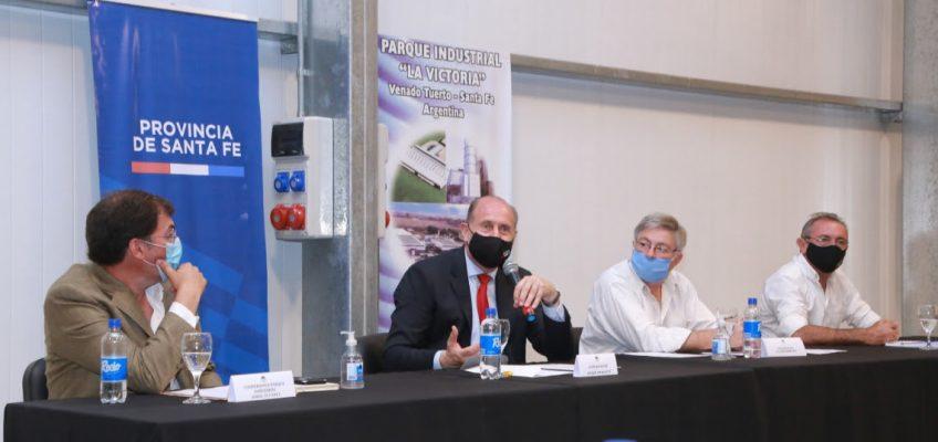 El gobernador Omar Perotti se reunió con empresarios e industriales de Venado Tuerto